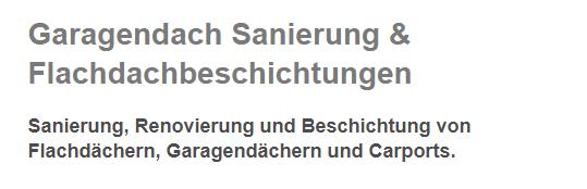 Garagendach Sanierung in  Saarland, Homburg, Saarlouis und Neunkirchen