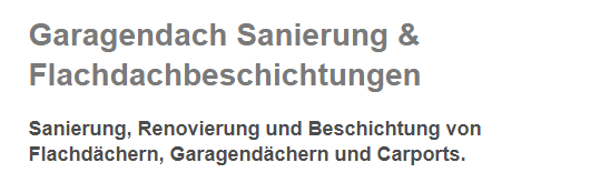 Garagendach Sanierungen für 63849 Leidersbach, Kleinwallstadt, Mespelbrunn, Heimbuchenthal, Hausen (Aschaffenburg), Sulzbach (Main), Großwallstadt oder Niedernberg, Bessenbach, Elsenfeld